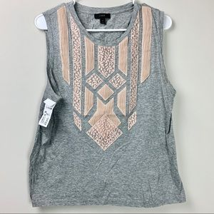 J crew lace detail tank top